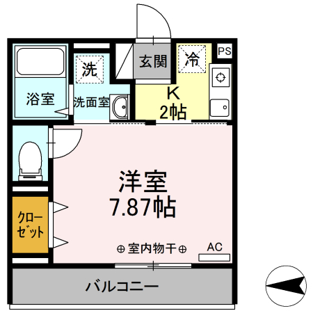Comfort yuuya・303号室の間取り
