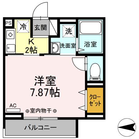 Comfort yuuya・306号室の間取り
