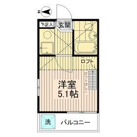 東小金井栄ハイム・0210号室の間取り