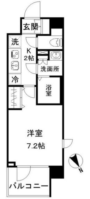 N-stage AkabaneShimo・507号室の間取り