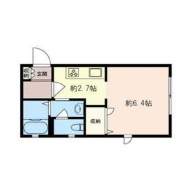 カリーノ西横浜・101号室の間取り