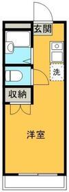 キュービック湘南 壱番館・0206号室の間取り