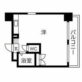 パンルネックス・クリスタル博多駅南・603号室の間取り