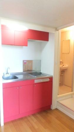 レオパレス万場山 104号室のキッチン