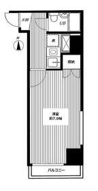 東日本橋フラワーハイホーム・205号室の間取り