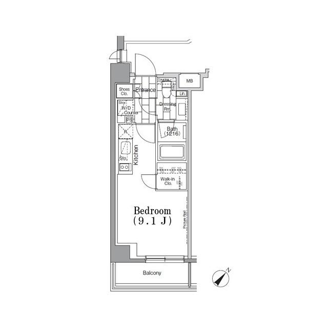 パークハビオ月島・310号室の間取り