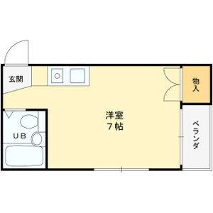平池マンション・3-B号室の間取り