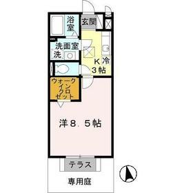 UNO HOUSE(ウノハウス)・106号室の間取り