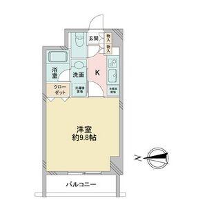 S-FORT桜山(旧:サムティ桜山RESIDENCE)・0803号室の間取り