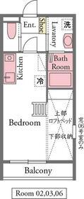 ドリームⅢ・206号室の間取り