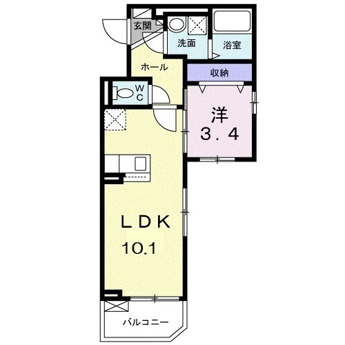 M・T・Kレストハウス・03010号室の間取り