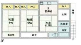 三崎町諸磯アパートA棟・2F号室の間取り