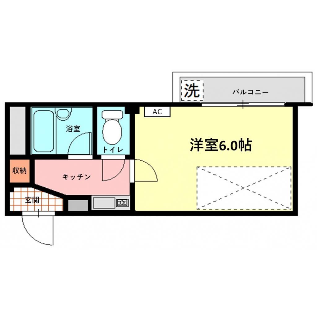 ビバリーハウス南福岡Ⅱ・304号室の間取り