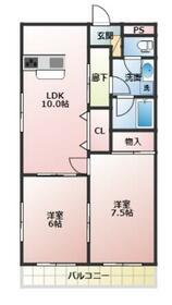ライフマンション(2LD 業)・3F号室の間取り