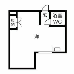 プレアール京都六地蔵・203号室の間取り