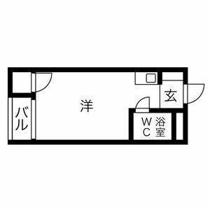 プレアール上神田・204号室の間取り