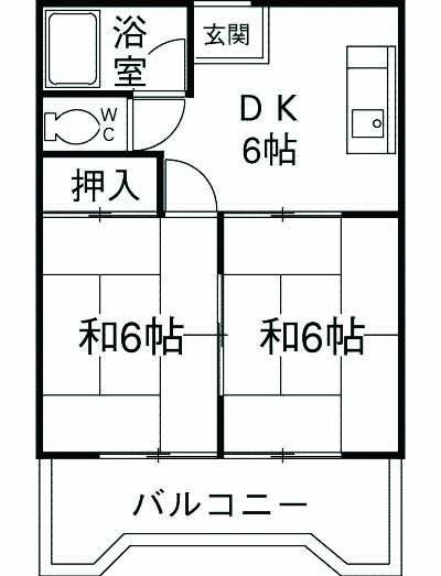 鈴マンション 103号室の間取り