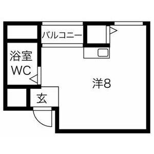 プレアール井高野・206号室の間取り