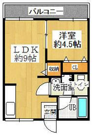 MAYUMI前川ハイツA棟・203号室の間取り