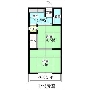 青山マンション・103号室の間取り