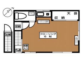 橋口アパート・202号室の間取り