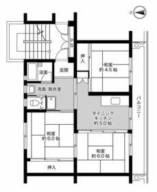 ビレッジハウス奈戸岡1号棟・0302号室の間取り