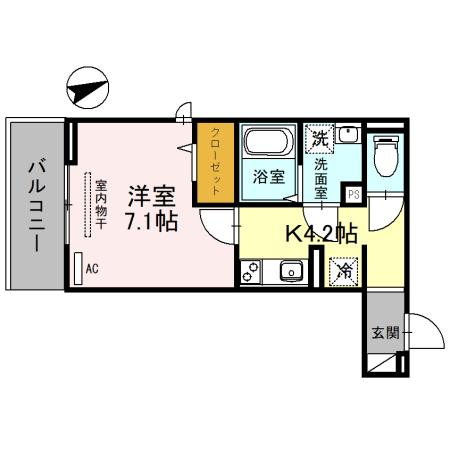 (仮称)D-room一乗寺高槻町・303号室の間取り