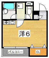 エムズマンション沼袋・0203号室の間取り