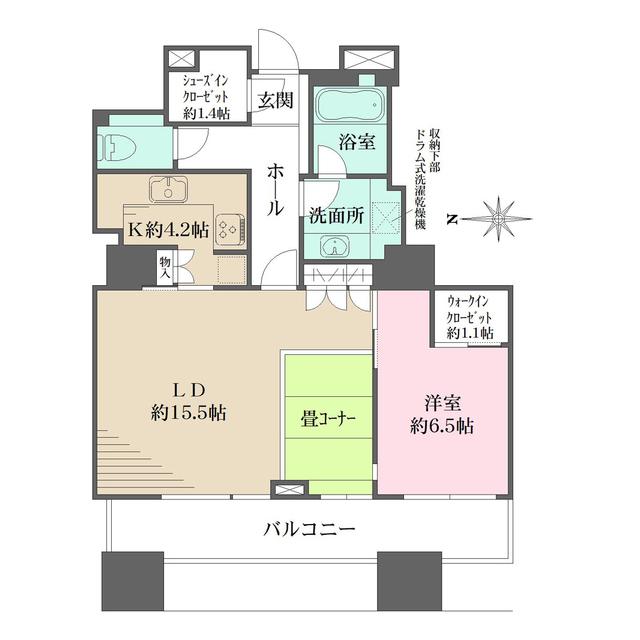東京パークタワー・2302号室の間取り