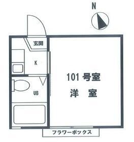 ホワイトビラ新蒲田・101号室の間取り