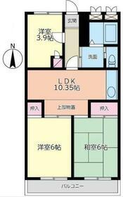 新藤マンション・303号室の間取り
