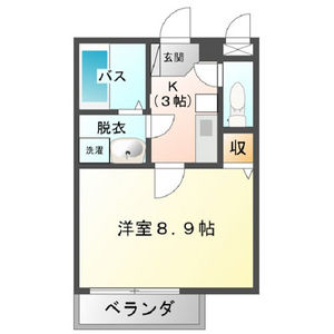 第2中央ビルディング・506号室の間取り