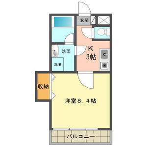 第2中央ビルディング・503号室の間取り