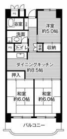 ビレッジハウス岐阜タワー・0313号室の間取り