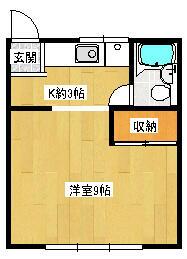 レピュート斉藤II・102号室の間取り