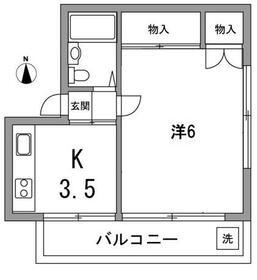 ハイムタカムラ・2A号室の間取り