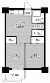 ビレッジハウス泉北栂タワー・0601号室の間取り