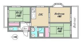 エステート松風台(エステートマツカゼダイ)・40A号室の間取り