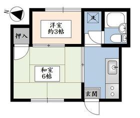 今井ハウス・102号室の間取り