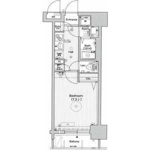 エステムプラザ天神EASTプレミアムタワー・802号室の間取り