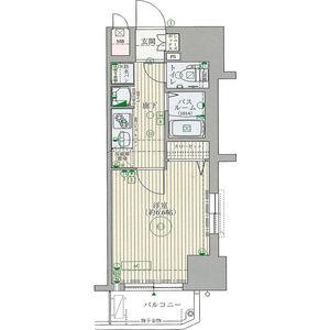 エステムコート博多・祇園ツインタワーセカンドステージ・605号室の間取り
