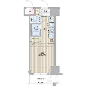 エステムコート博多・祇園ツインタワーセカンドステージ・1402号室の間取り