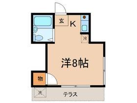 岩崎コーポ・102号室の間取り