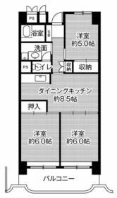 ビレッジハウス岐阜タワー・0404号室の間取り
