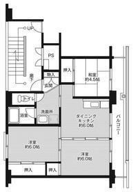 ビレッジハウス上三川1号棟・0504号室の間取り