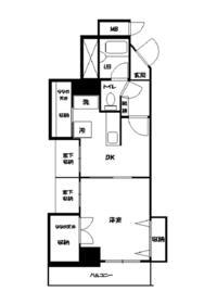 M・1マンション・702号室の間取り