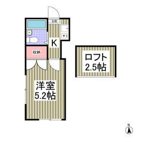 YUKIGUNI KASHIWADAI・204号室の間取り