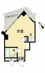 プレール横浜山手・208号室の間取り