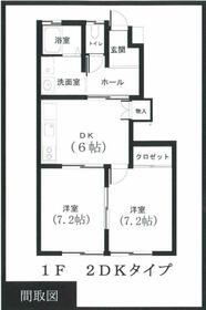 ツインコート川島Ⅰ・101号室の間取り