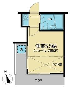 グランドール和田町A棟・105号室の間取り
